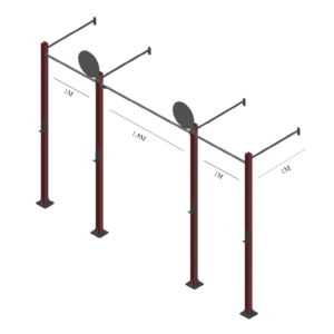 Rack K06 Parede 1,0 m  Triplo + Alvo